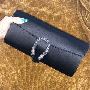Gucci Dionysus Satin Clutch Bag
